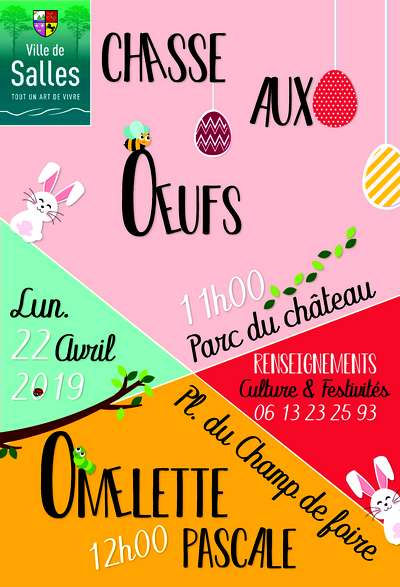 Chasse aux oeufs salles 2019