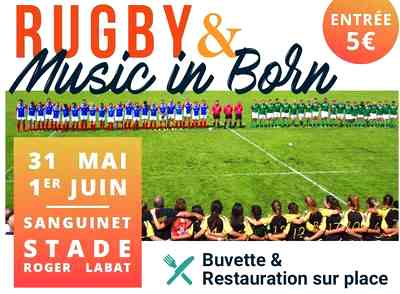 Rugby music and born a sanguinet